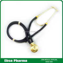 Cardiology Dual Head Gold-gilding Stethoscope with Watch