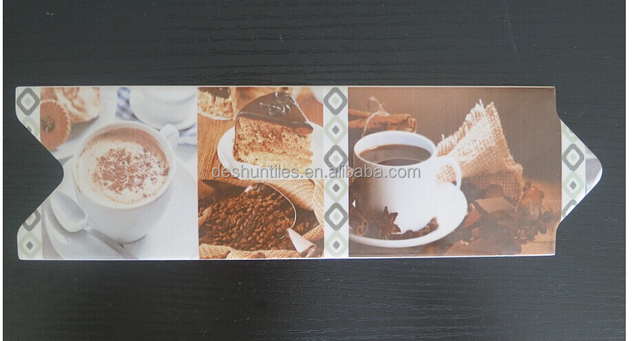 Inkjet Wall Art Ceramic Listello Border Tiles for Kitchen