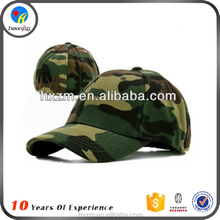 blank 6-panel fitted camo baseball cap