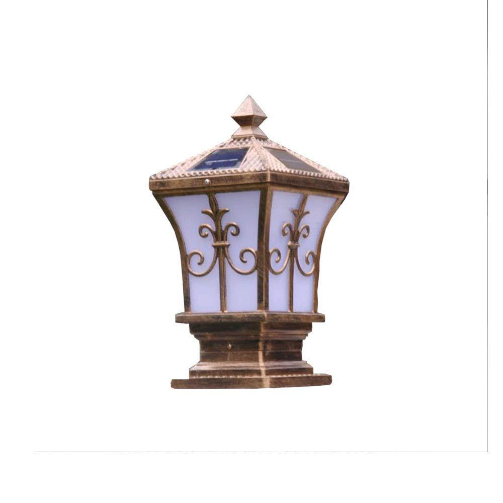 Chuangrong Solar Landscape Garden Light European-Style Outdoor Waterproof LED Villa Retro Lamp Post Door Light