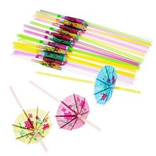 Hawaiiaanse Strand Cocktail Luau Party Decoraties Levert Paraplu <span class=keywords><strong>Parasol</strong></span> Rietjes