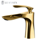 LUANSEN new design single handle gold hot cold water mixer tap