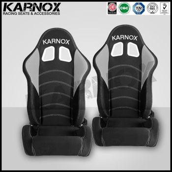 Karnox Drift Jdm Style F1 Adjustable Racing Cloth Reclining Car Seat
