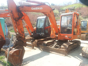 Daewoo Mini Excavator S55 - Buy Daewoo Mini Excavator S55,Mini Wheel