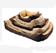 Deluxe Soft Washable Dog Pet Supplies Warm Basket Bed Cushion With Fleece Lining KA1535