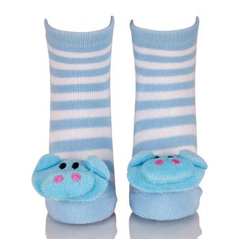 c4b67dbb6 Blue White Stripe Elephant 3d Animals Kid Socks - Buy Animals Kid ...