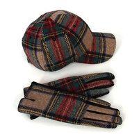 New Design Monogrammed Tartan Checks Unisex Elegant Caps British Vintage Buffalo Plaid Dad Felt Hat