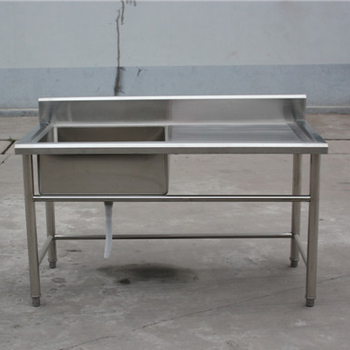 Used Square Stainless Steel Trough Kitchen Sink One Bowl Topmount Washing  Sink For Sale