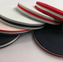 High quality accessory for clothing bag shoe DIY LOGO Striped polyester webbing