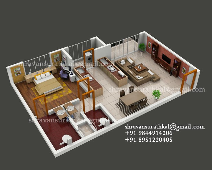 Architecture 3D Floor Plan - Buy Home Plans Product On Alibaba.Com