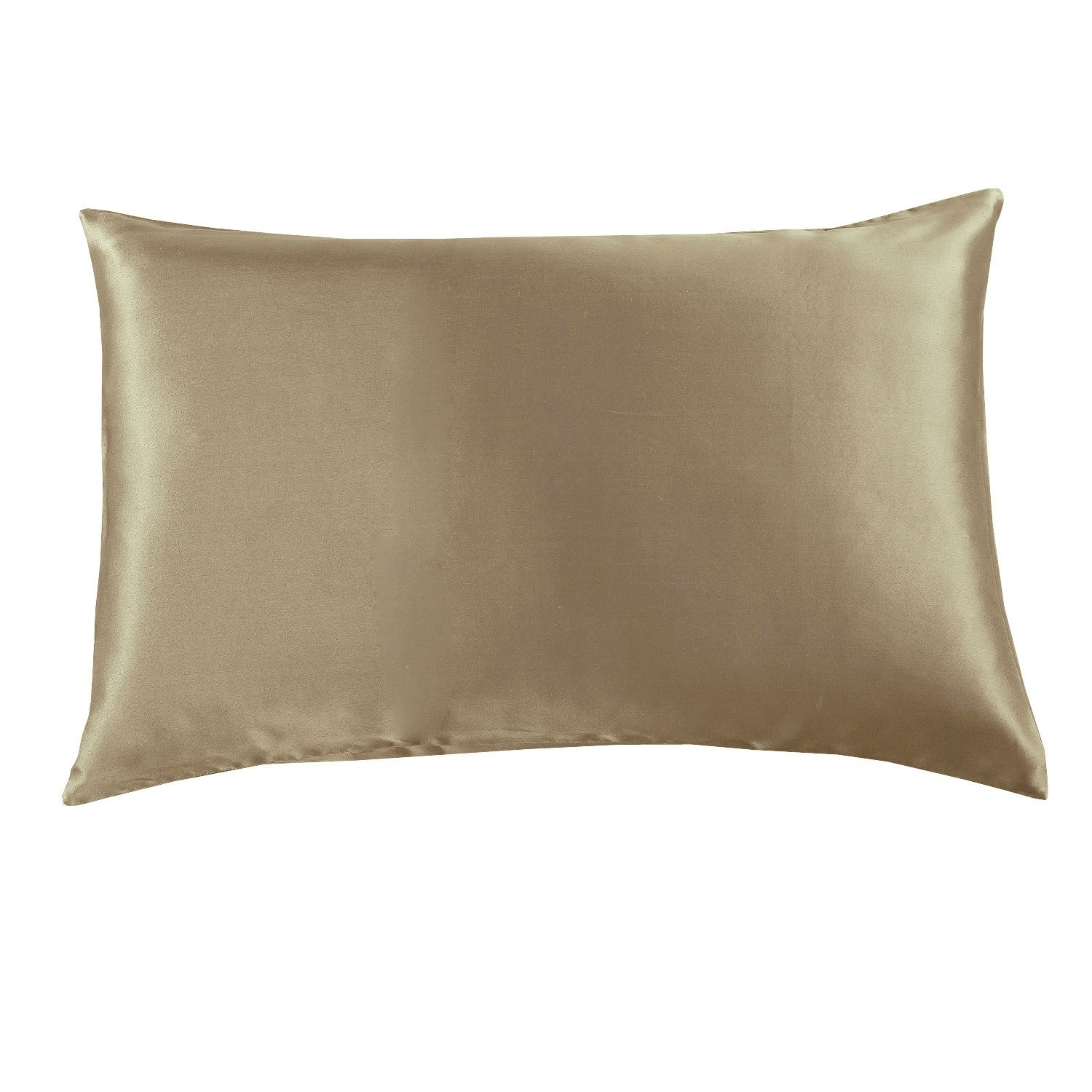 Orose 19mm Luxury 100% Pure Mulberry Silk Pillowcase, Good for hair, sleeping and facial beauty. Prevent from wrinkle and allergy. With hidden zipper. Gift wrap. (Standard, Taupe)