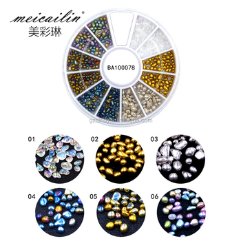 Fashion Luxurious irregular Nail stone with Nail Art Decoration