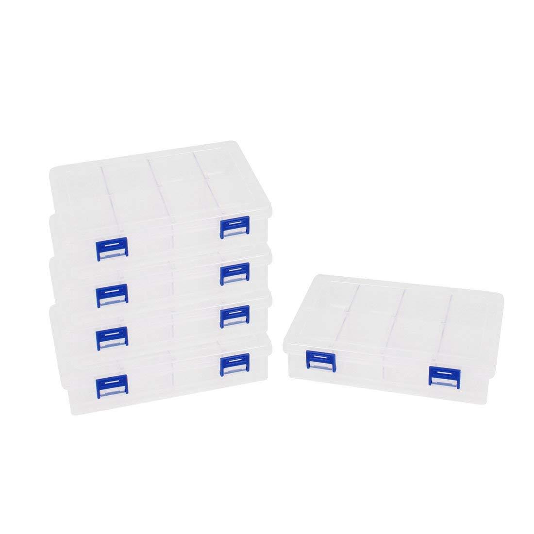 Aexit Plastic Detachable Tool Organizers 8 Grid Screws Electronic Parts Storage Box Tool Boxes 5 Pcs