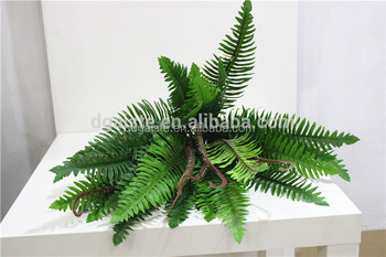 large fern leaf artificial green wall fake grass for outdoor using