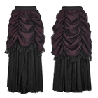 Q-332 PUNKRAVE hot lace Gothic halloween skirt women bubble halloween skirt
