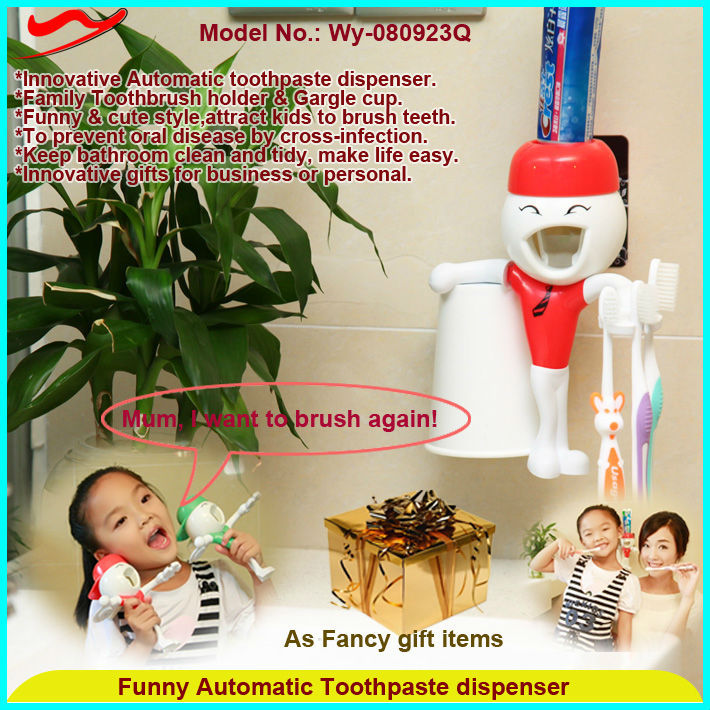 Q Auto Toothpaste dispenser factory wholesale novelty gifts 2016