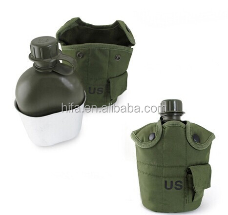 drinking military canteen foldable water bottle