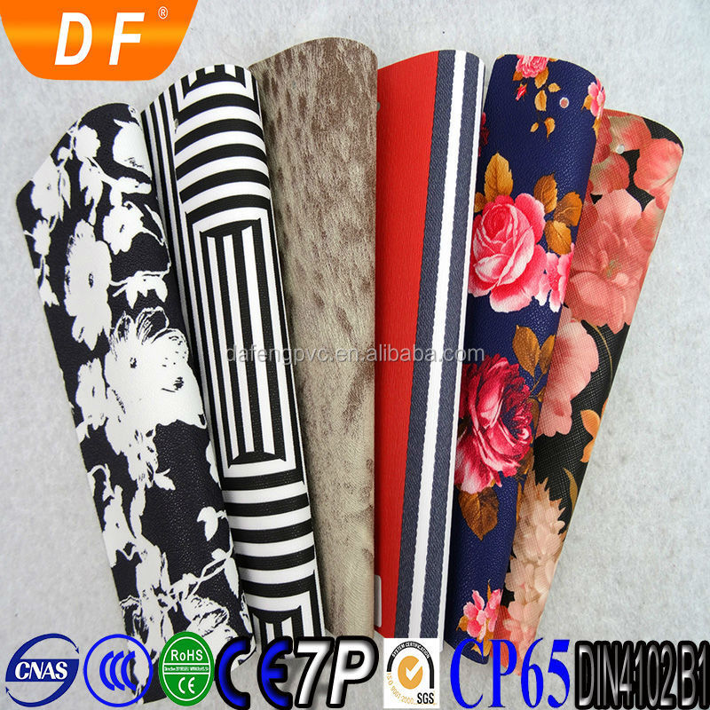 2015 New arrival fashion smoothness pvc leather for making handbag bag handles leather material