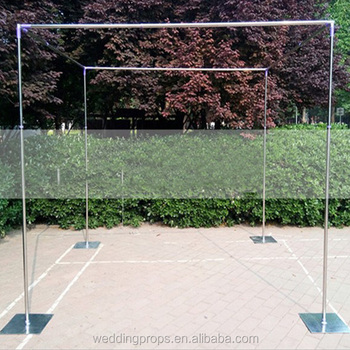 Square drape aluminium pipe for wedding events