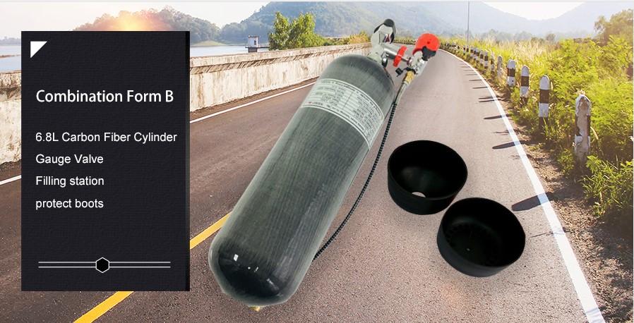 6.8L Carbon Fiber Cylinder PCP Air Gun Paintball Tank and breathing apparatus
