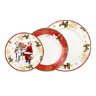 Home decoration antique bone china side personalized Christmas ceramic plates