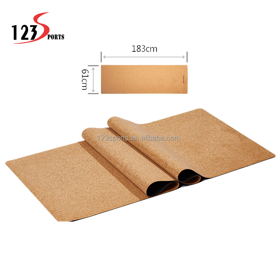 100%Natural TPE cork yoga mat