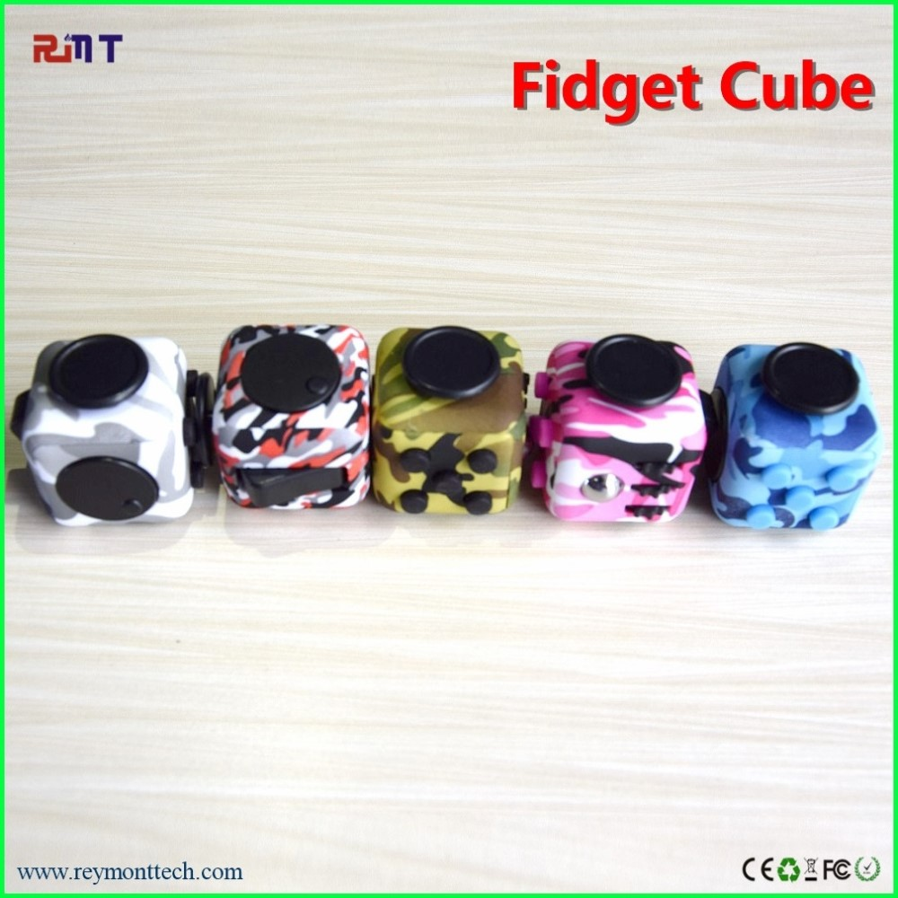 2017 hot sale Fidget Cube Anxiety Stress Toys Spinner Gift Camo blue fidget cube