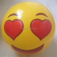 Summer Hot Sell Giant Inflatable emoji beach ball