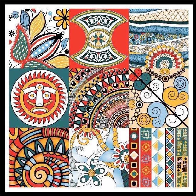 Nouveau Design Indien Tangka Bonne Volonté Tuiles Commercial Tapis - Carrelage salle de bain et tapis amérindien