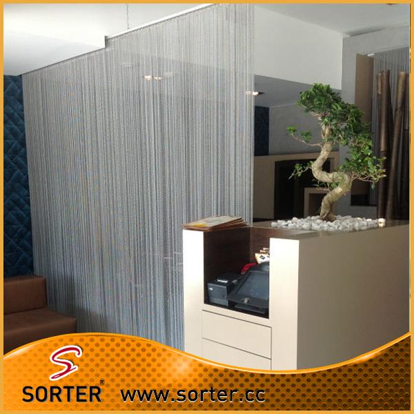 Fine Flexible Aluminum Wire Mesh Curtain, Metal Mesh Curtain, Metal Mesh  Drapery