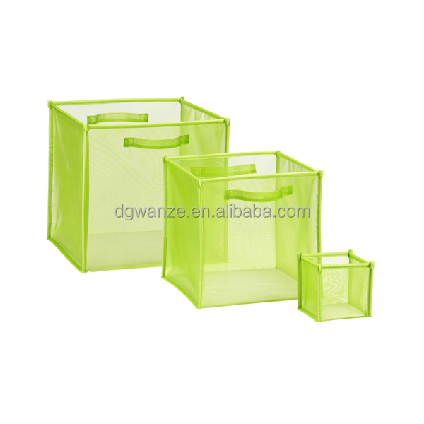 folding polyester mesh cube