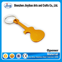 2015 new arrivall convenient soft drink can opener guitar shape bottle opener
