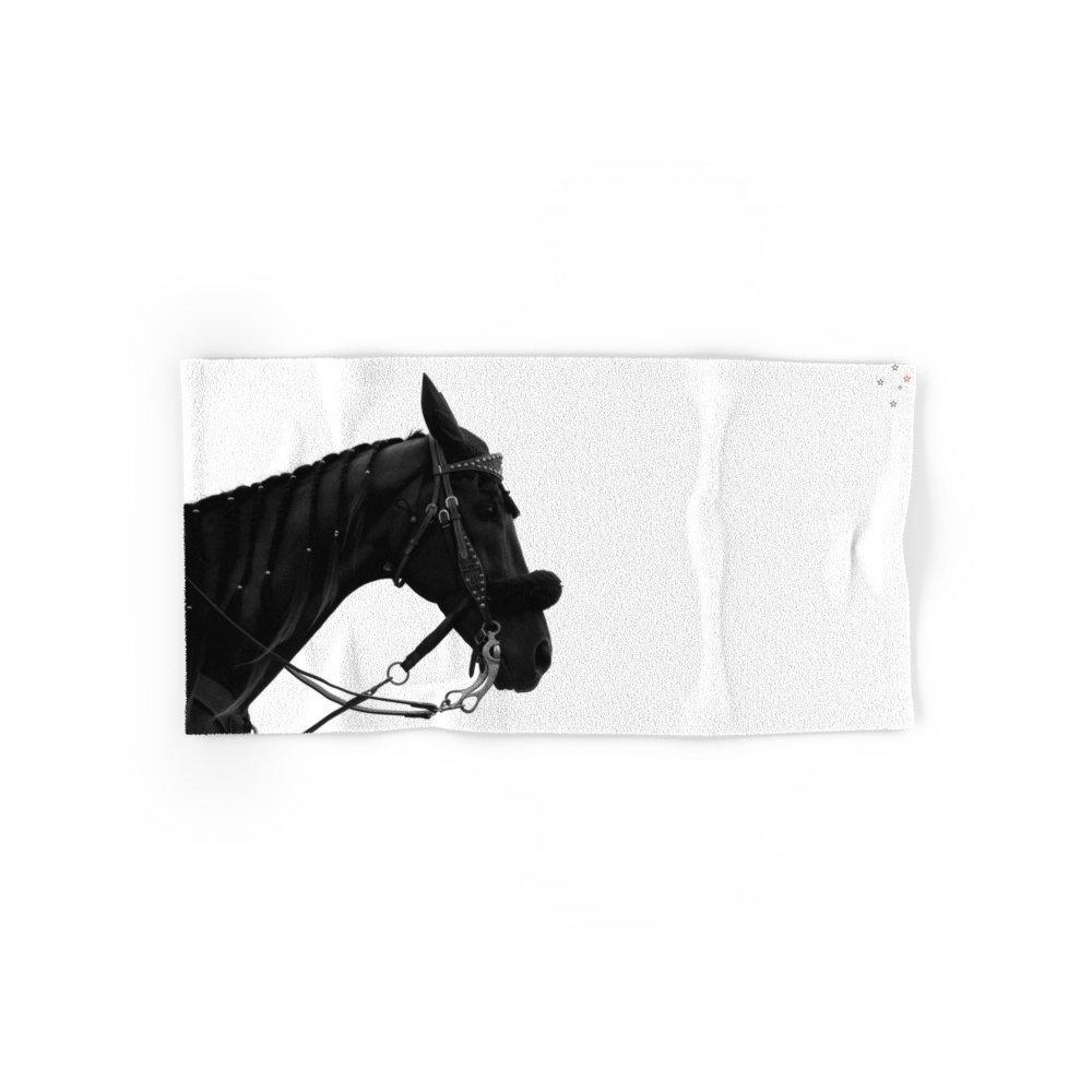 Society6 Dark Horse Set of 4 (2 hand towels, 2 bath towels)