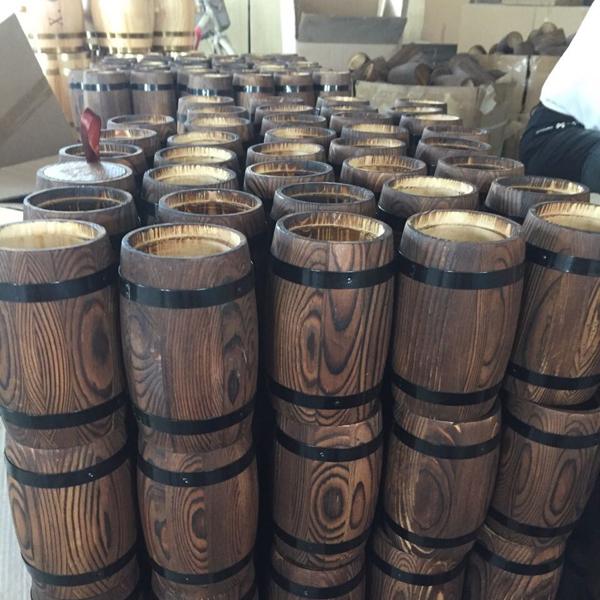 מודרני קפה עץ טבעי חמה למכירה זול חבית, עץ אורן חביות יין-תופים , דליי WR-75