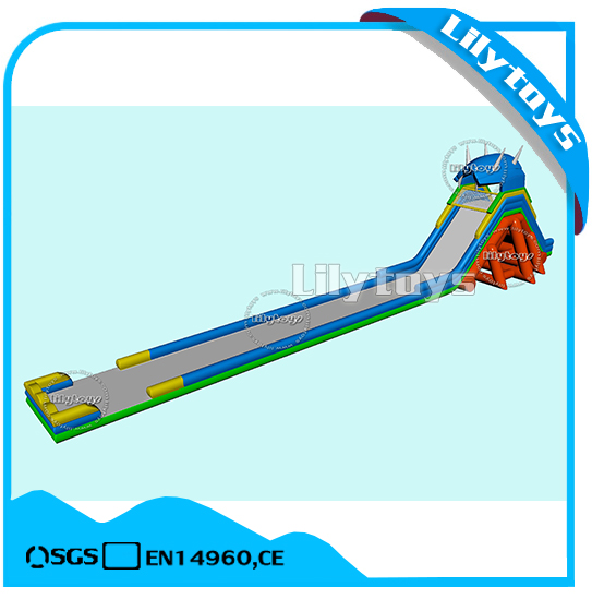 Triple slideway giant hippo inflatable water <strong>slide</strong> for adult