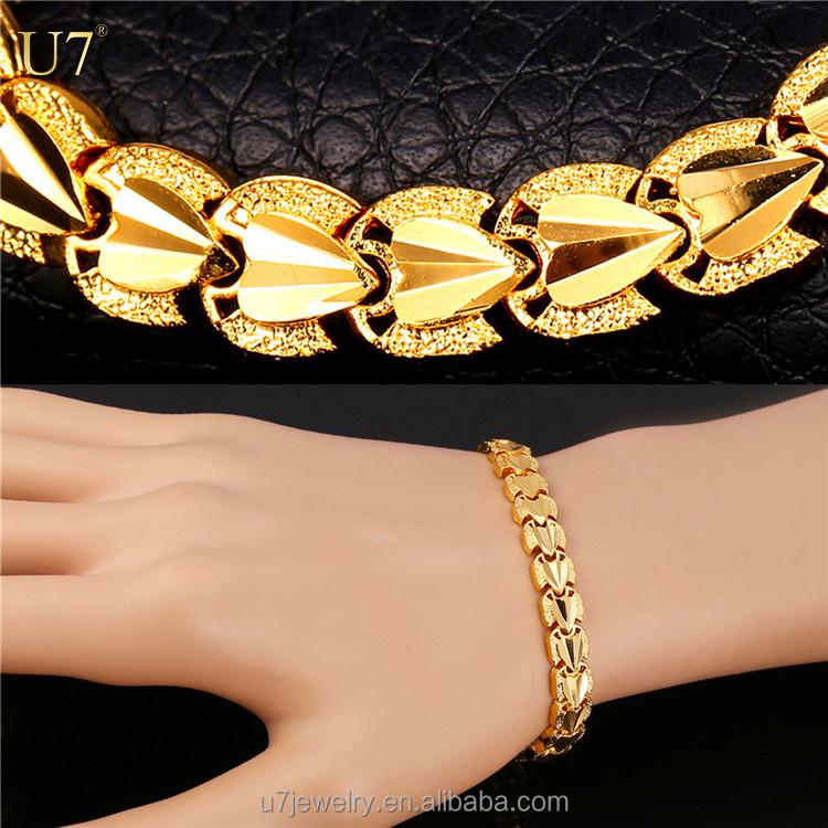 заказать браслет на руку золотой с сердцем