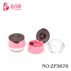 egg shaped lipstick tube printed football shape empty lip balm container for sale