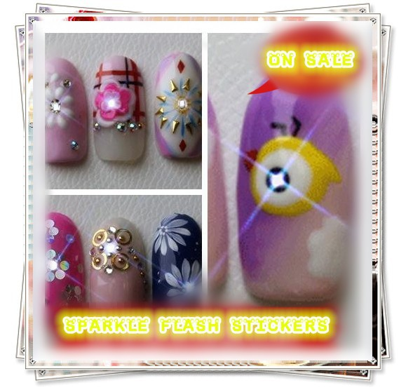 NEWEST TRENDY NAIL ART>LED NAIL STICKERS>AMAZING INDUCTION NAIL TIPS