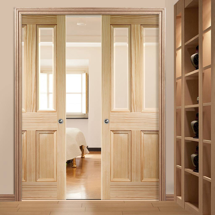 Soundproof Sliding Solid Wood Glass Interior Lowes Fire Rated Cavity Pocket Door