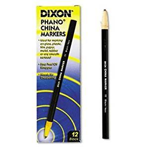 "Dixon - 4 Pack - China Marker Black Dozen ""Product Category: Writing & Correction Supplies/Crayons & China Markers"""
