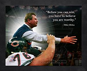 Mike Ditka Chicago Bears Pro Quotes Framed 8x10 Photo