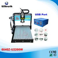 6040Z-U2200W cnc engraving machine metal wood carving machine with limit switch