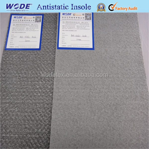 Antistatic nonwoven insole board for safety shoes