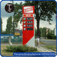 Casting Craftsman Customized characteristic display pylon sign for gas station price