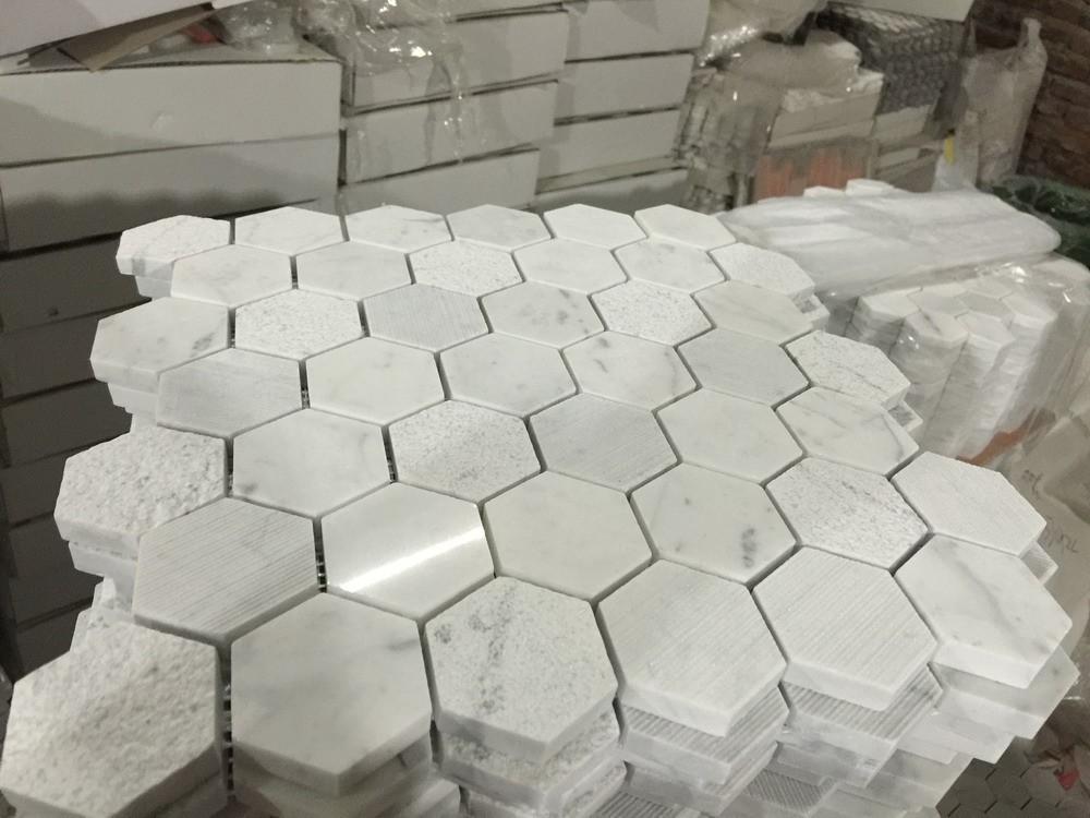 Hexagon Tegels Wit : Hoge kwaliteit hexagon carrara wit marmer mozaïek hexagon patroon