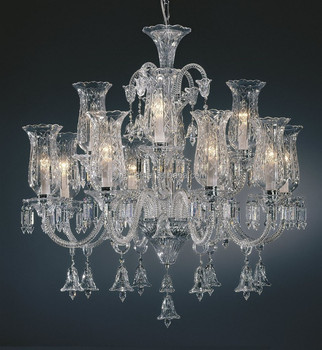 clear glass chandelier crystal decorative chandelier made in china wholesale - Decorative Chandelier