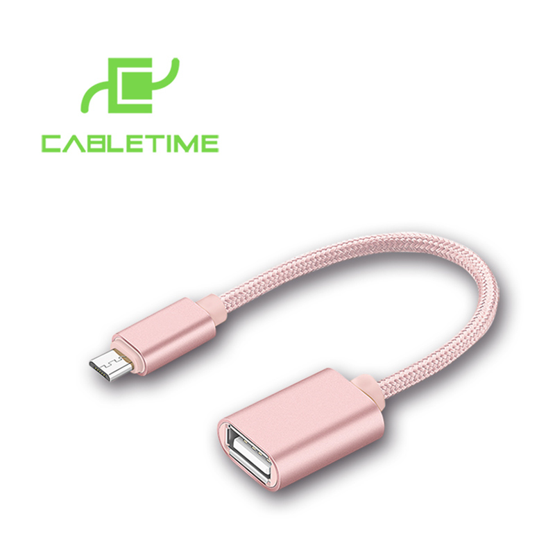 0.5FT Micro USB Male to USB 2.0 A Female OTG Host Cable Adapter Converter Support Mobile Phone