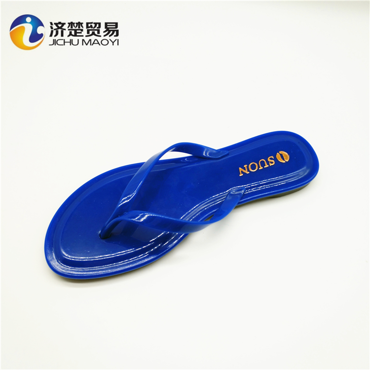 Solid color selling women's shoes plastic slippers pvc sandals custom slides