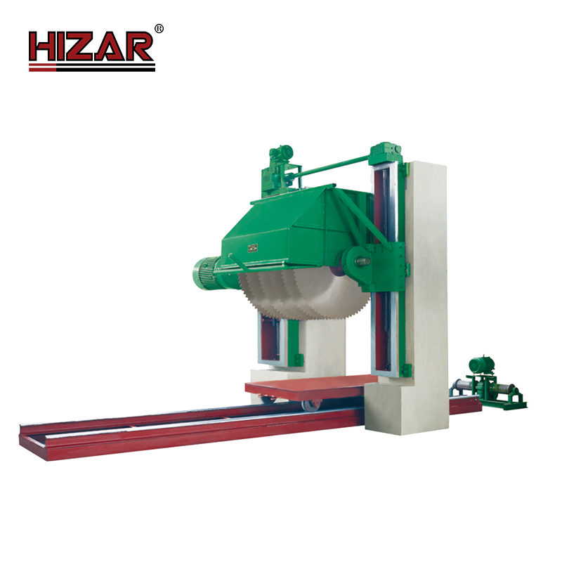 HIZAR HGQM1600 Hot stone cutting machine Rock cutting saws for stone block marble granite stone cutting machine