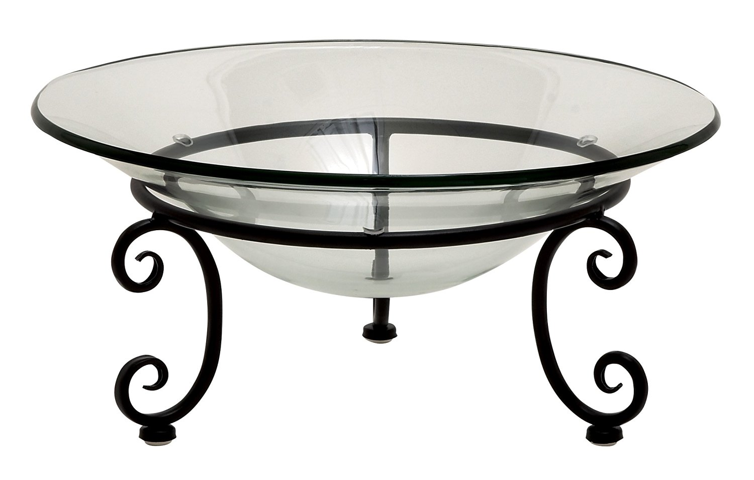 Plutus Brands Amazing Styled Metal Glass Bowl